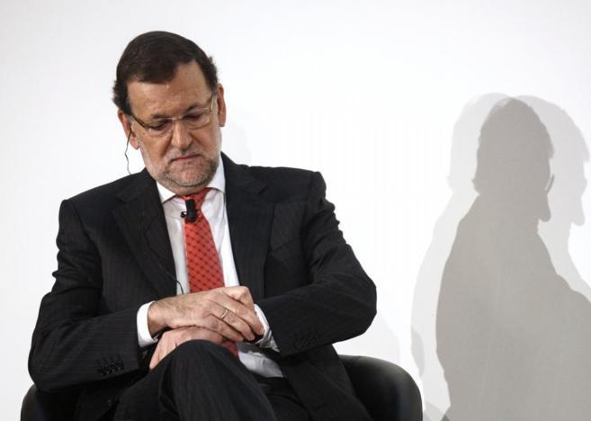 El presidente del Gobierno, Mariano Rajoy, en un evento que tuvo lugar...
