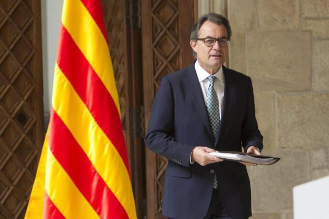 Artur Mas durante una rueda de prensa sobre el 9-N.