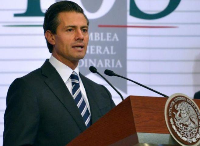 Peña Nieto durante su discurso en Ciudad de México