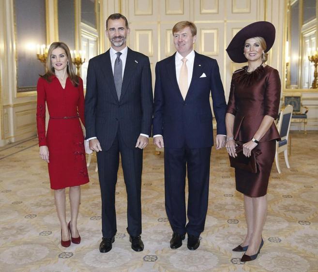 Los Reyes de España y de Holanda, en el Palacio Noordeinden, de La...