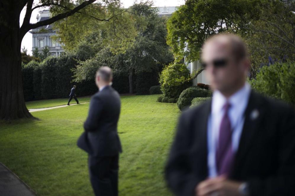 El presidente de los EEUU, Barack Obama, camina de vuelta a la Casa...