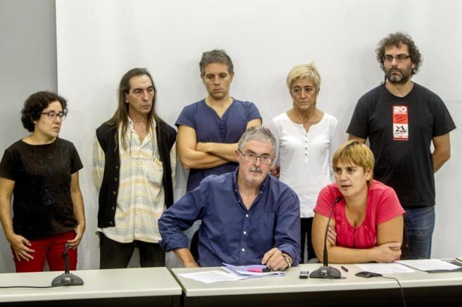 Bilbao -- Rueda de prensa con los secretarios generales de ELA,...