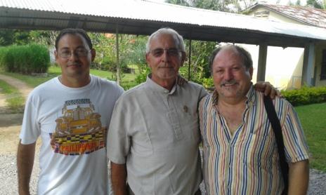 De izquierda a derecha: René González, Luis Pérez y José Luis Garayoa
