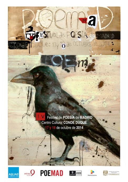 El cartel de Poemad, obra de Julio Rey.