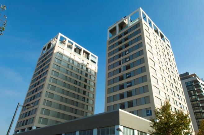 Los edificios de la promoción residencial Torres Cuatre Carreres de...