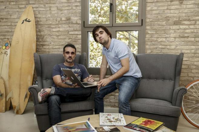 Los socios de SalesLayer, Álvaro Verdoy e Iban Borràs, en las...