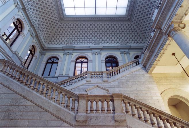 Interior de la Biblioteca Nacional de España.