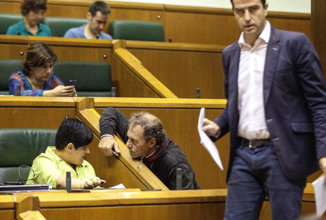 Maite Beitialarrangoitia, Bixen Itxaso y Gorka Maneiro en el...