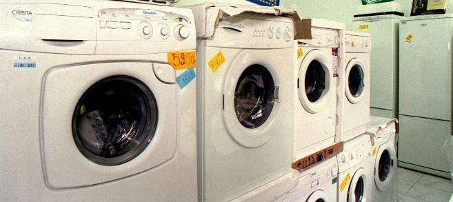 Lavadoras en un establecimiento.
