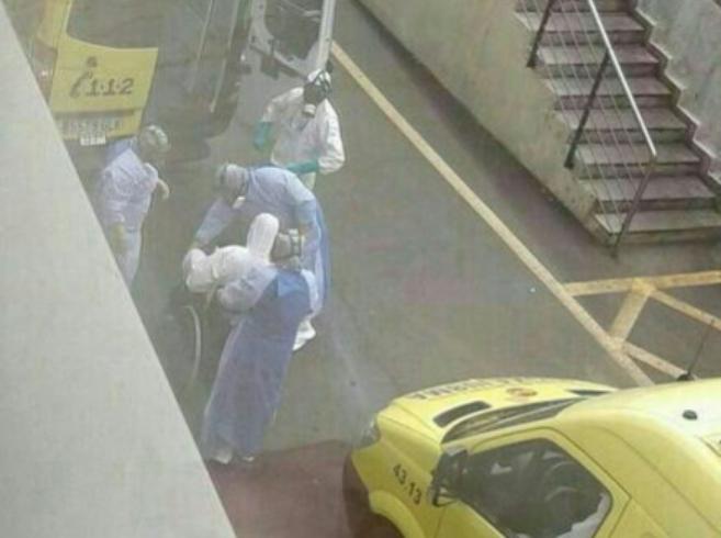 Llegada del cooperante al Hospital Universitario Nuestra Señora de la...