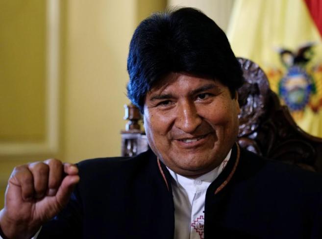 Evo Morales durante una entrevista en el Palacio Presidencial en La...