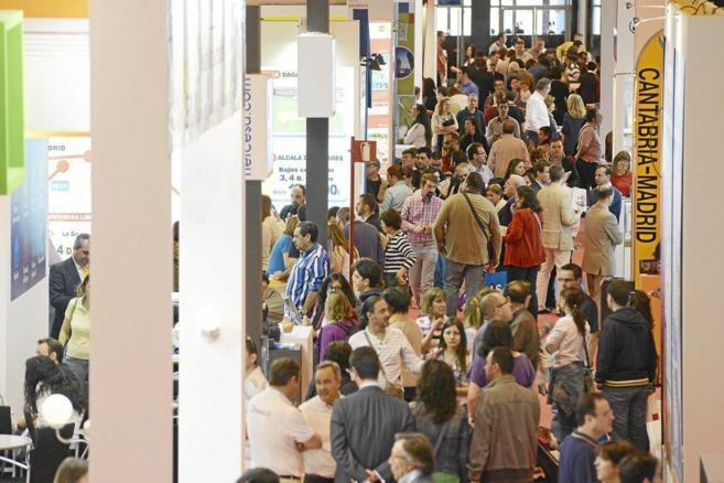 Imagen de la multitud de asistentes a la edición del Sima 2014.
