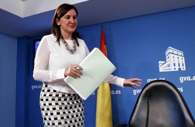 La consellera portavoz, María José Català, durante su...