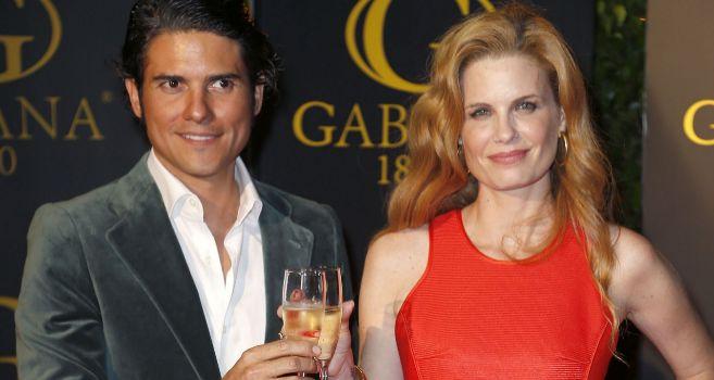 Olivia de Borbón y Julián Porras, el día de su despedida.