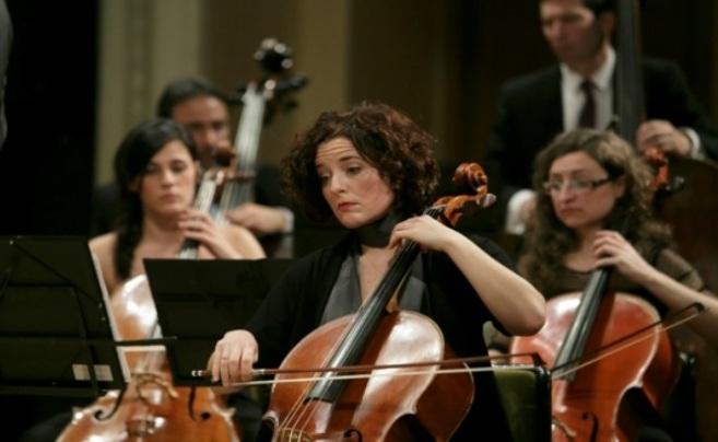 La Orquesta Bética de Cámara, durante uno de sus conciertos,
