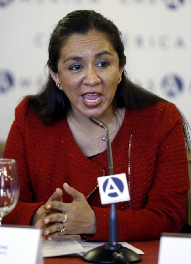 La vicepresidenta de Perú, Marisol Espinoza, este viernes en Madrid.