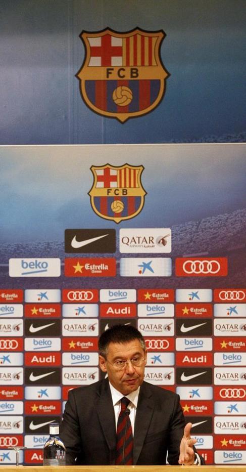 Josep María Bartomeu, durante una rueda de prensa.