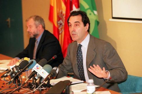 Jaime Terceiro en 1996, durante su etapa en la presidencia de Caja...