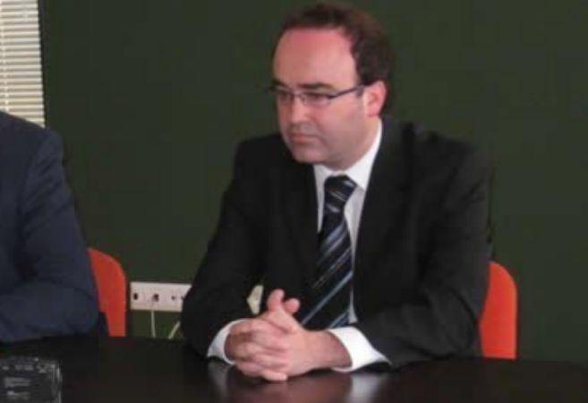 El ex concejal investigado, Óscar Morales, en un acto.