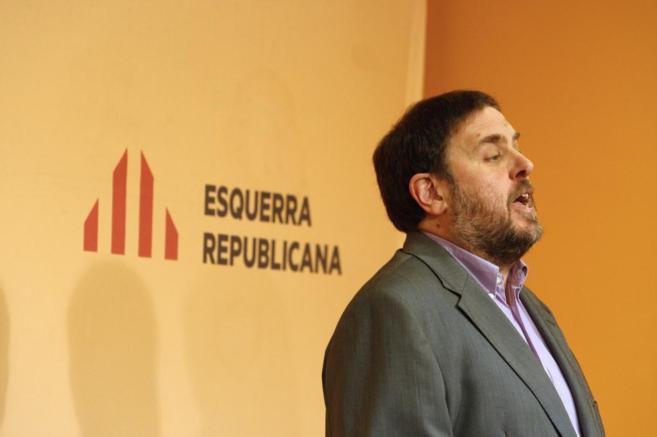 Oriol Junqueras en Consell Nacional de ERC.