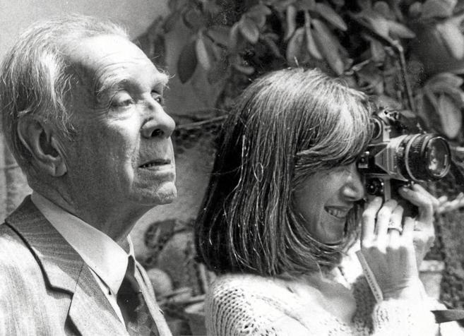 Borges con su esposa, María Kodama.