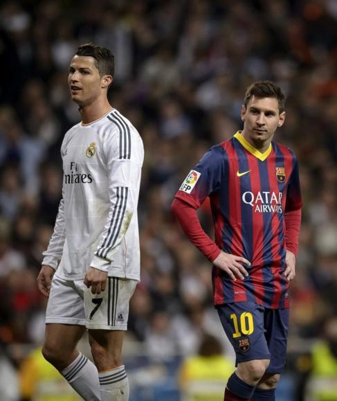 Cristiano y Messi en el Clásico de la pasada temporada.