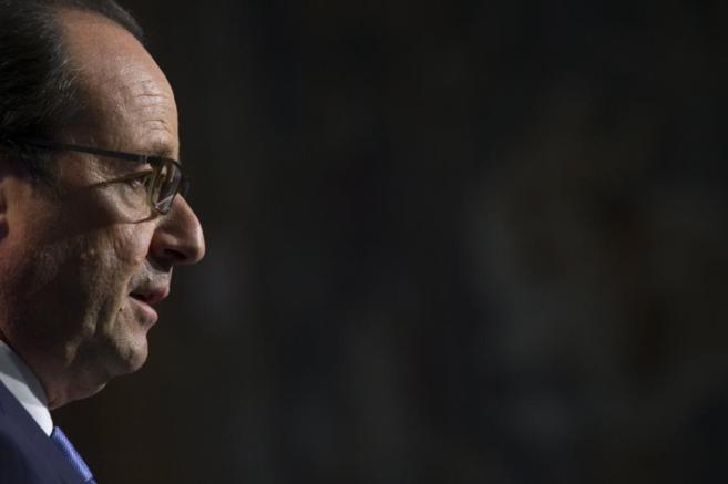 François Hollande, durante un encuentro con economistas en la sede de...