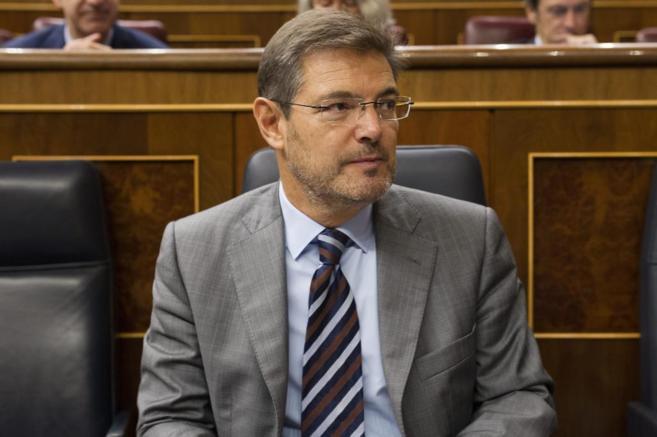 Rafael Catalá, ministro de Justicia, en el Congreso de los Diputados.