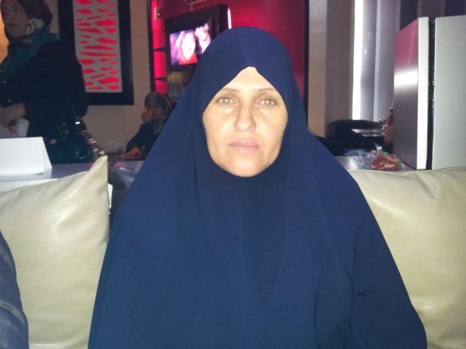 Fatima Ziq, una de las mujeres representantes de las facciones...