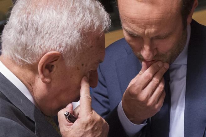 García-Margallo conversa con su homólogo danés, Martin Lidegaard,...