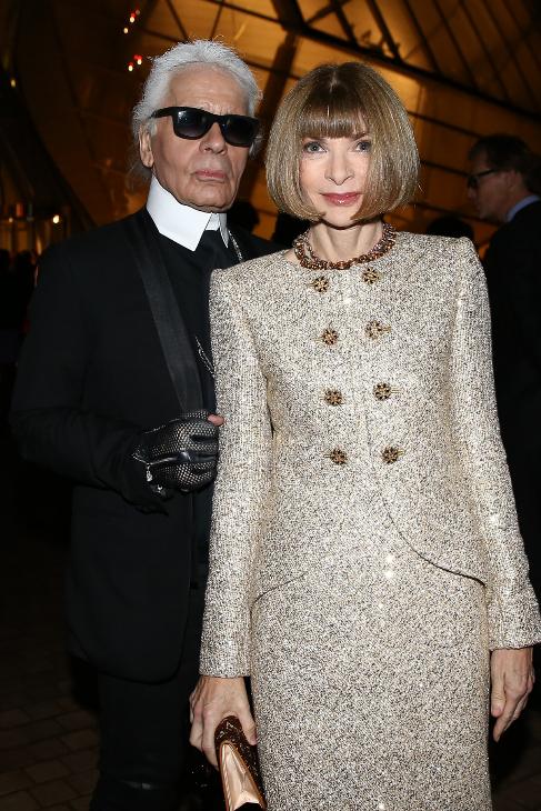 Anna Wintour y Karl Lagerfeld fueron otros de los asistentes.