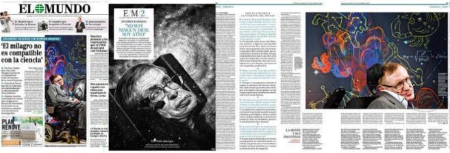 Cobertura de la entrevista de EL MUNDO a Stephen Hawking.