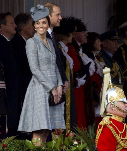 La Duquesa de Cambridge y su marido, este martes.