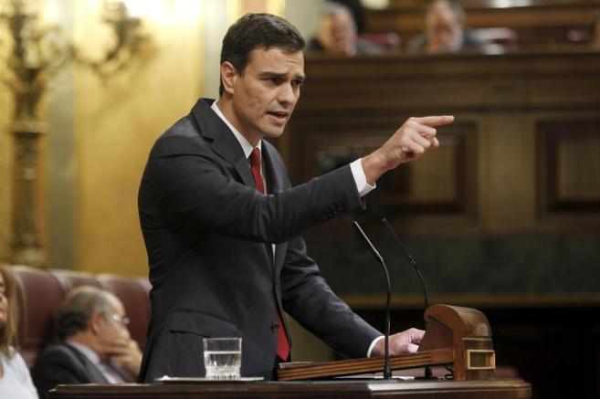 Pedro Sánchez, hoy en el Congreso de los Diputados.