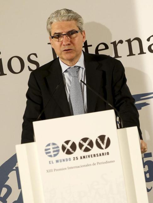 Casimiro García-Abadillo, durante su discurso.