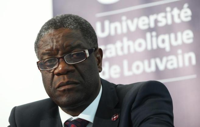 Denis Mukwege durante una reciente rueda de prensa.