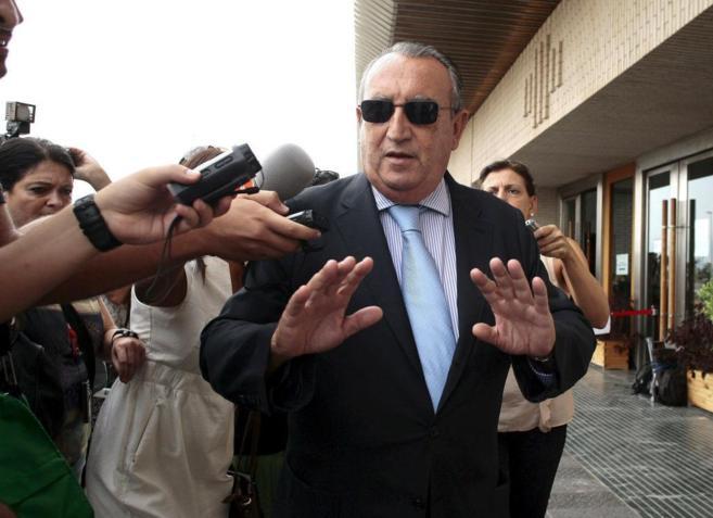 Carlos Fabra en la Audiencia provincial el pasado mes.