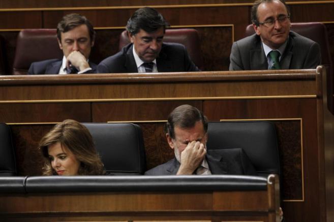 El presidente del Gobierno, durante el debate sobre los Presupuestos...
