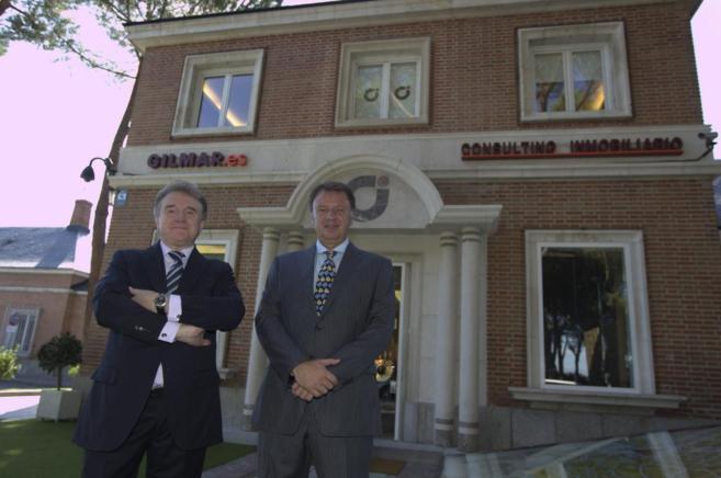 Manuel Marrón (i) y Jesús Gil (d), consejeros de Inmobiliaria Gilmar...