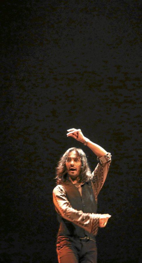Farruquito, durante su actuación en la Bienal de Flamenco 2014.