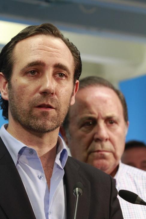Bauzá durante la rueda de prensa de presentación de Durán.