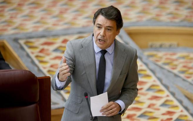 El presidente de la Comunidad de Madrid, Ignacio González, durante un...
