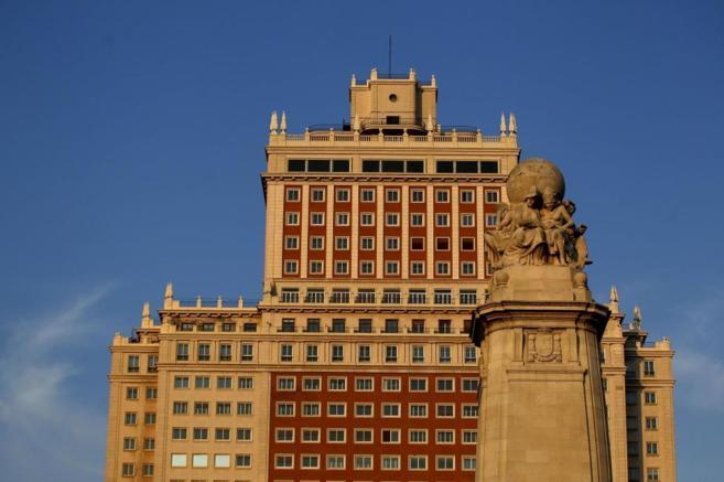 Imagen de la fachada del Edificio España, recientemente adquirido por...