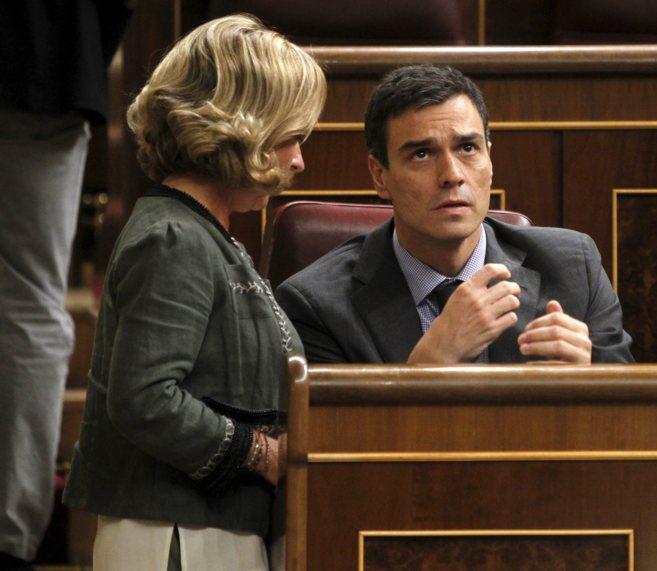 El secretario general del PSOE, Pedro Sánchez, esta semana en el...