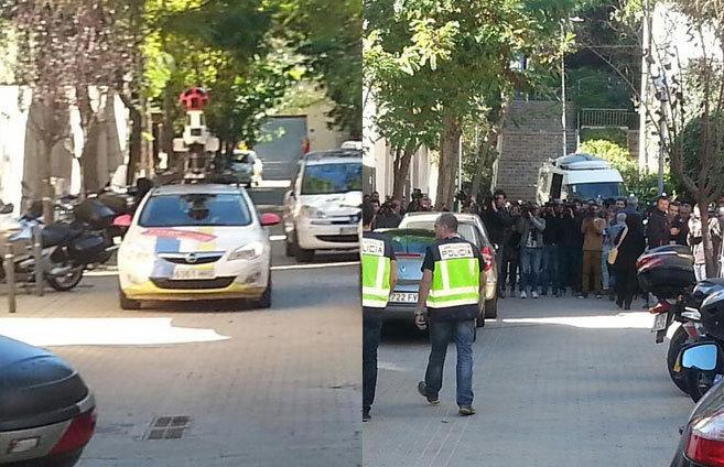 El coche de Google Street View y los periodistas apostados en casa de...