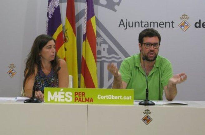 Antoni Noguera durante una rueda de prensa de MÉS per Palma.