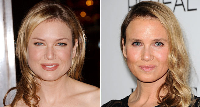 La actriz, en 2005 (i) y esta semana.