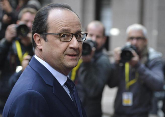 El presidente francés, François Hollande, en Bruselas.