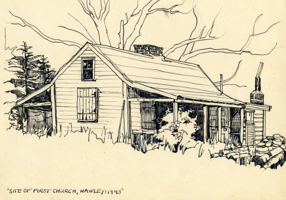 'Emplazamiento de la Primera Iglesia, Hawley', 1957