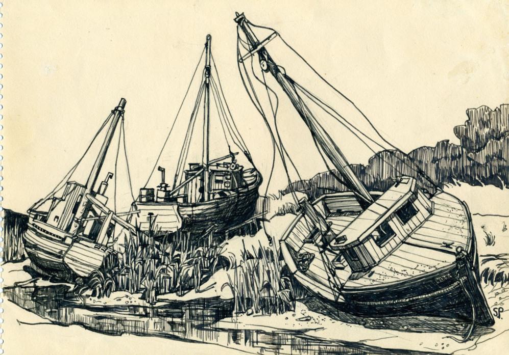 'Barco cerca de Rock harbor, Cape Cod'